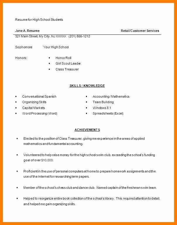 First Time Job Resume Unique 9 10 First Job Resume With No Experience Examples In 2020 High School Resume Student Resume Template High School Resume Template