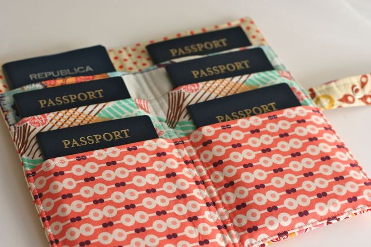 Family Passport Wallet-- I would love to need one of these, and would make it if I did need it.