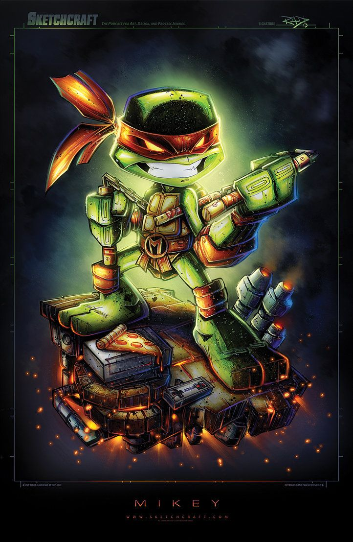 TMNT - Mikey by Rob Duenas