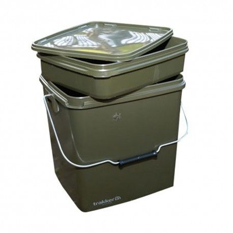 Trakker - OLIVE SQUARE CONTAINERS 17 LITRI