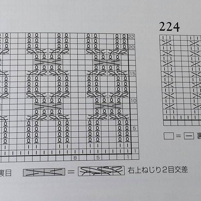 Резинки 223 и 224. Петельки обозначают скрещенные петли