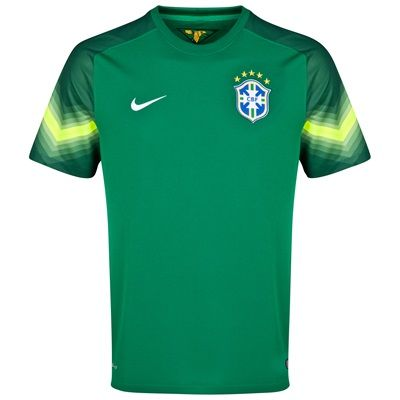 Nike Brazil Away Goalkeeper Shirt 2013/15 Green Brazil Away Goalkeeper Shirt 2013/15 GreenPerfect your goalie skills whilst you show your support for your favourite team with this Brazil away goalkeeper shirt.With the Brazil crest on the left che http://www.MightGet.com/february-2017-2/nike-brazil-away-goalkeeper-shirt-2013-15-green.asp