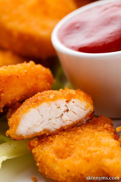 Skinny Chicken Nuggets - This healthy version of fast food nuggets is always a big hit with the adults & kids. #chickenrecipes