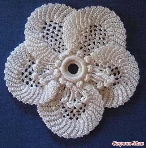 Ирландское вязание - цветок