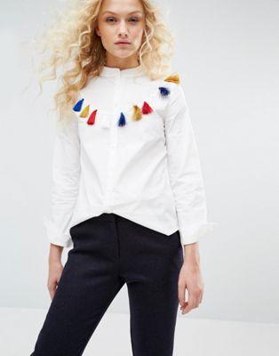 I Love Friday Shirt With Tassel Detail
