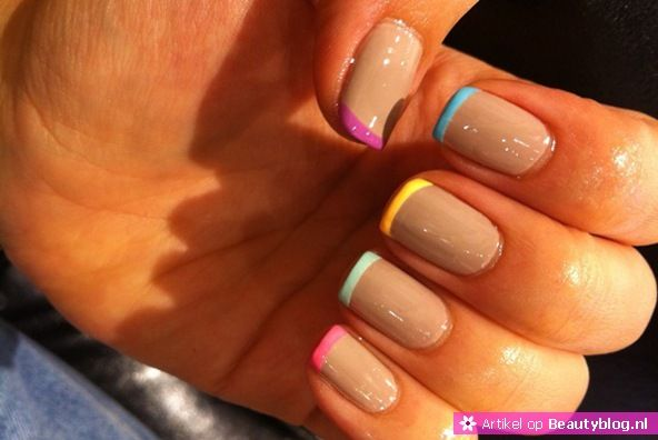 Nails with a pop of color