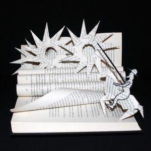 Don Quijote, libro escultura. Don Quixote, book art. Don Quichotte, libre d'artiste