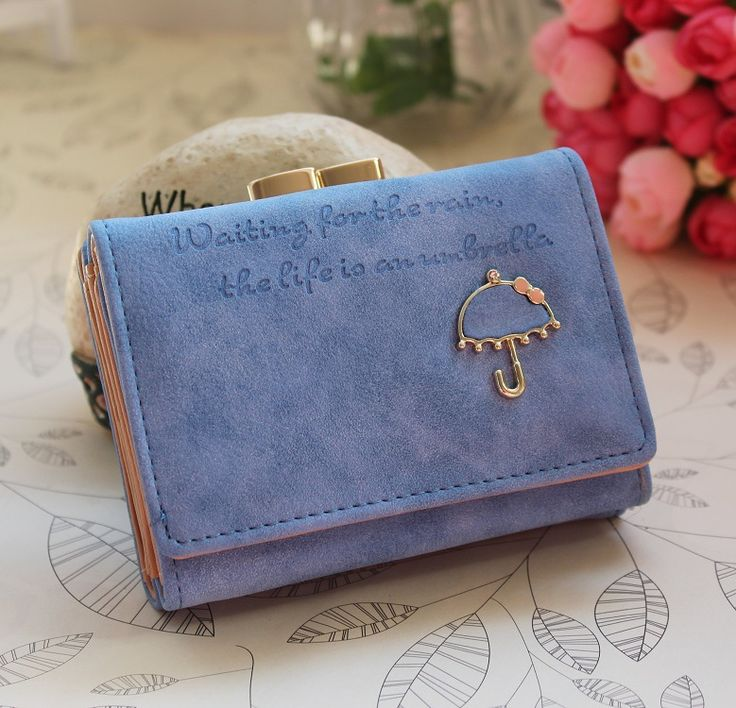 Aliexpress.com : Buy Wallets for Women with Umbrella Pattern Matte Leather Lady Purse 10 Color Short Fashion Clutch Basic Coin Case Money Bag Wallet from Reliable wallets for women suppliers on Tree Year