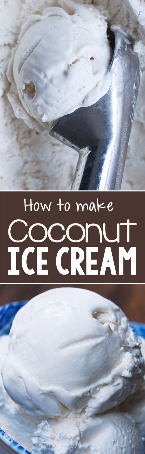 You will be amazed that this works when you see what ingredients go into this coconut ice cream recipe, it's a vegan ice cream recipe too!