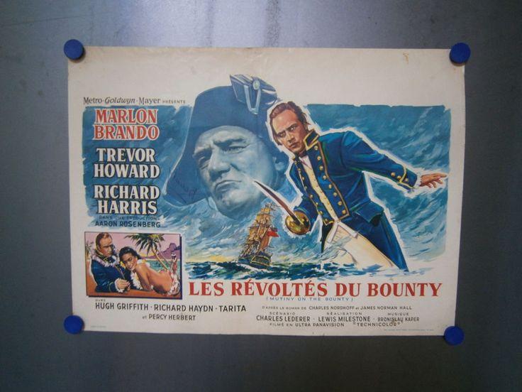 MUTINY ON THE BOUNTY ORIGINAL VINTAGE BELGIAN MOVIE POSTER (1962)   eBay
