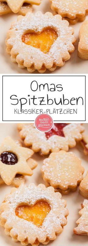 Dieses Spitzbuben-Rezept ist ein Klassiker der Weihnachtsbäckerei - die gefüllten Terrassenplätzchen (Linzer Kekse) gelingen auch Backanfängern.