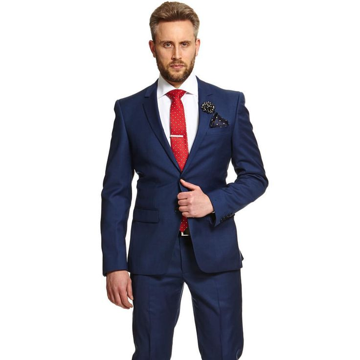 43b544a8808 The Power Combination. Blue Suit