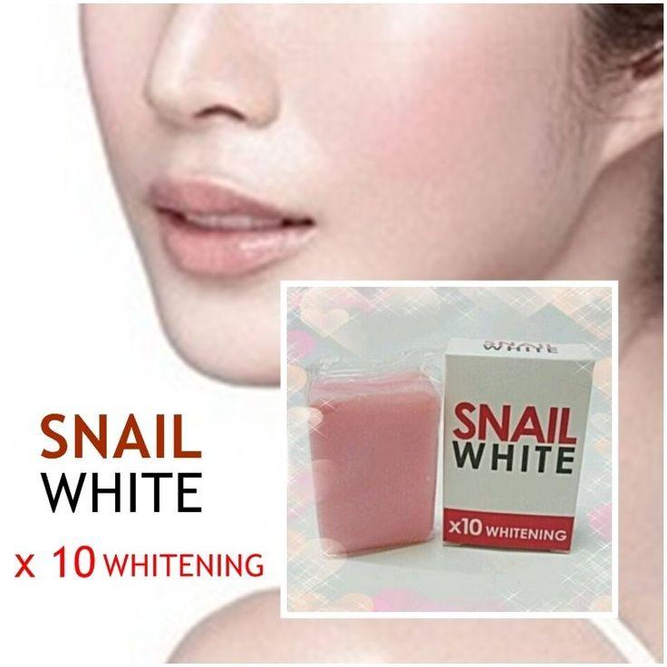 1 Bar Whitening Glutathione Snail Soap Body Bleaching Dark Skin Anti Aging New  #SnailWhite