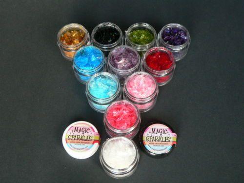Magic sparkles, Edible Cake Glitter, 2gm pot, choice of colours