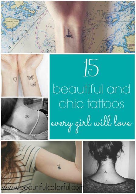 15 beautiful and chic tiny tattoos every girl will love - tattoo ideas - tattoo design - small tattoos - girly tattoos