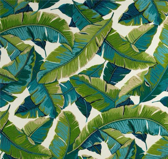 Outdoor Cushions Outdoor Pillows Palm Leaves by IslandHomeEmporium