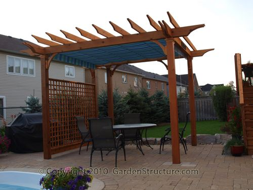 Superior An 8 X 12 Pergola With Retractable Canopy