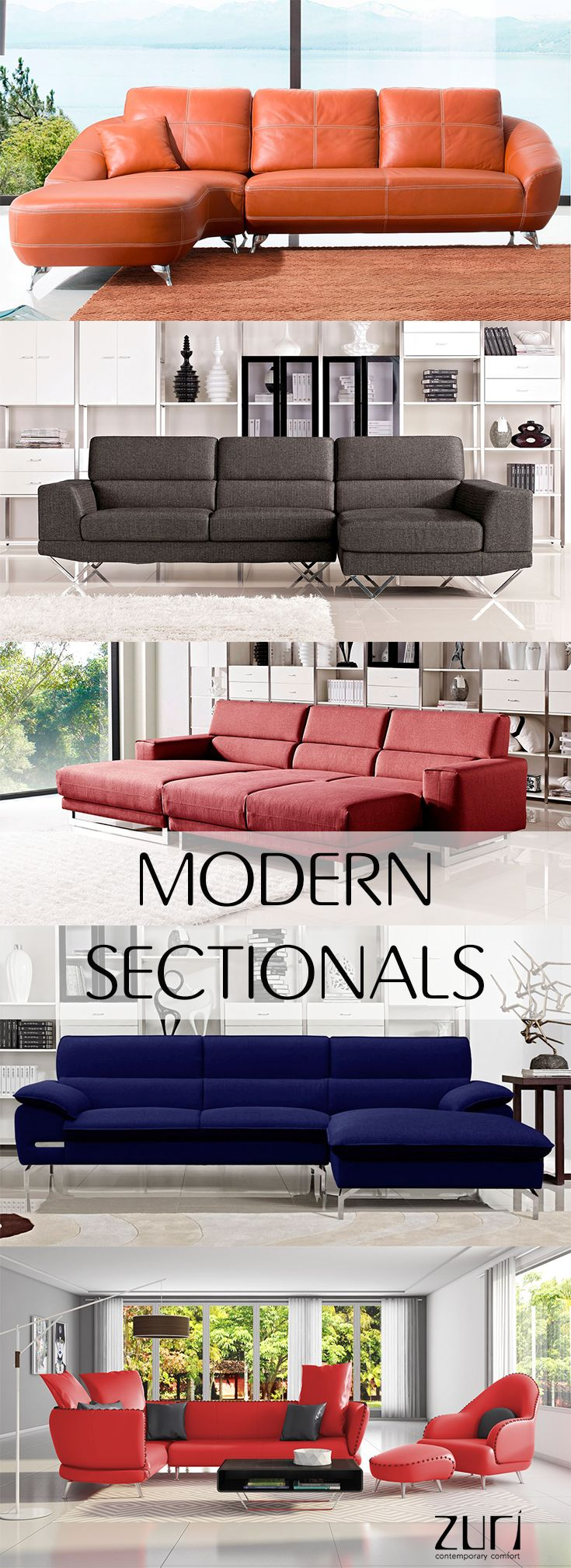 Shop A Large Selection Of Modern Sectionals At Zuri Furniture. Zuri  Furniture Provides High Quality, Premium Furniture For ...