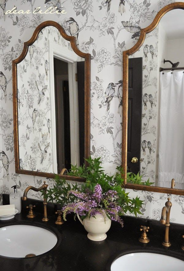 Beautiful Brass Mirrors Amp Faucets For The Bathroom Paired