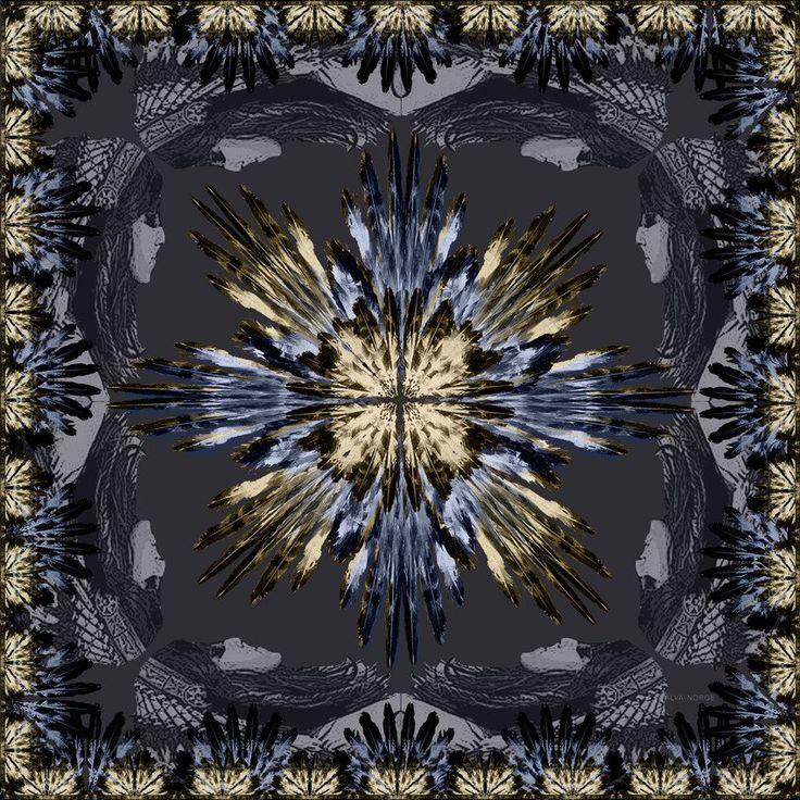 PLUMA BLUE CASHMERE SCARF