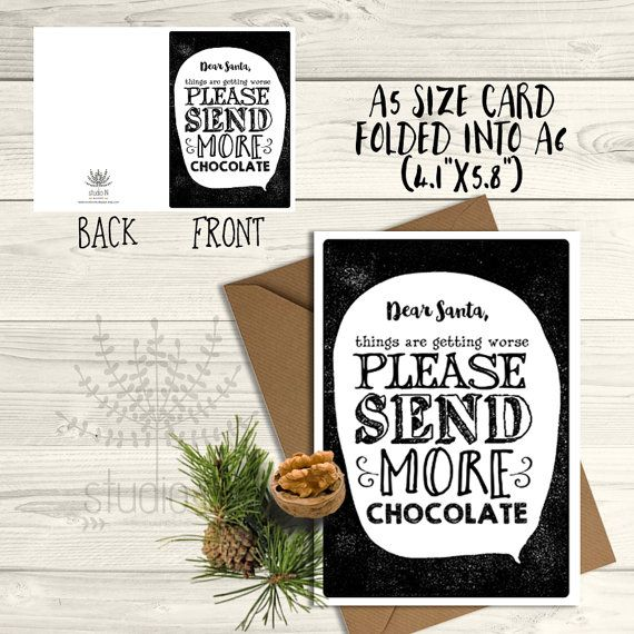Funny Christmas Cards, funny holiday card, Christmas Carols, Funny xmas card, typography cards, humorous xmas card, black and white card