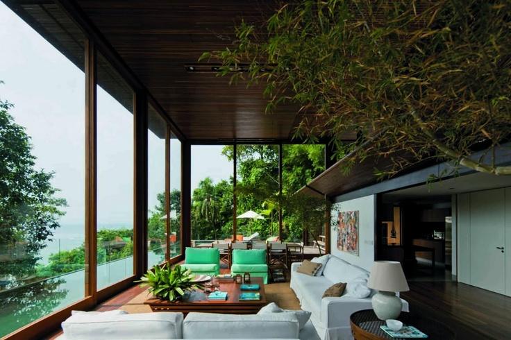 Casa Decorada: Sao Paulo, Jacobsen Architecture, Jungles Houses, Living Rooms, Houses Interiors, Window, Amb Houses, Architecture, Beaches Houses
