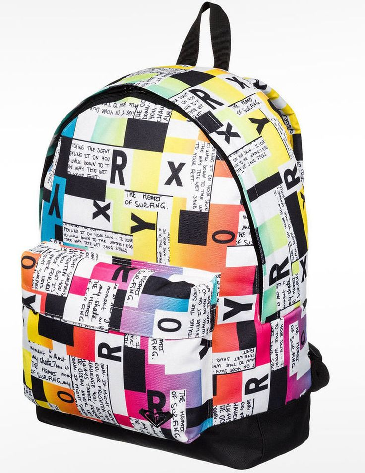 Roxy Sugar Baby Backpack 16L - Block Type  #roxy #roxygirl #snowboarding #fashion #snow #gift #giftforher #Christmas #bag #bagpack