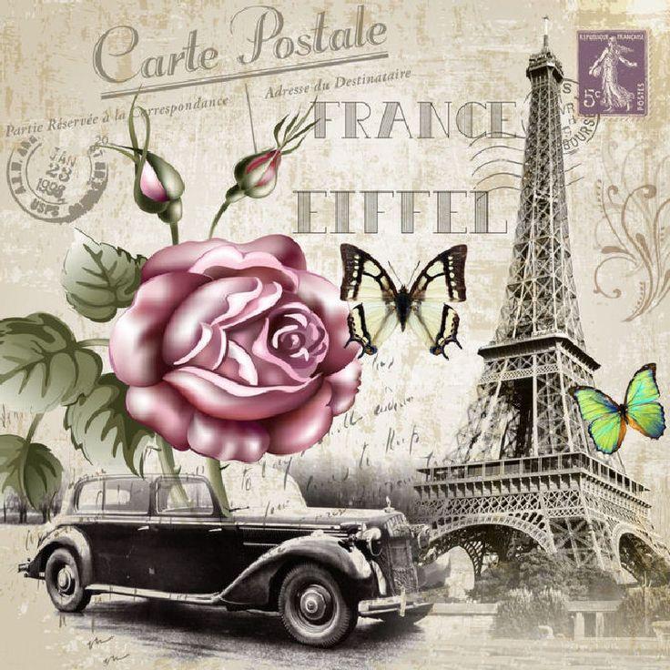Париж винтажные открытки, нефтяника