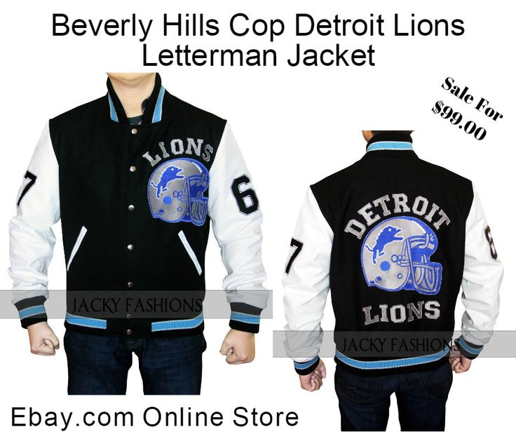 Hurry Guys #Amazing Offer Just Only at $99.00 #BeverlyHillsCop #DetroitLions #AxelFoley #Letterman #Jacket For #Sale in Our #OnlineStore Ebay.com, #fashion #fashionlover #fashionstyle #fashionable #fashionclothing #gifs #memes #model #moda #holiday #lifestyle #movie #people #malefashion #menswear #mensfashion #boyfahion
