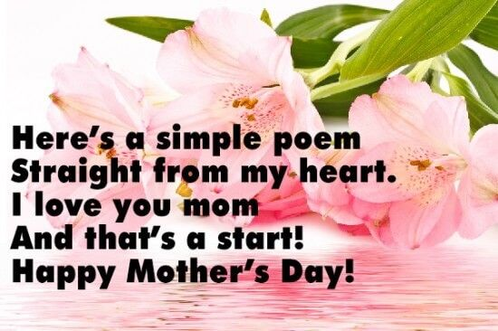 Happy mothers day Poems For Kids