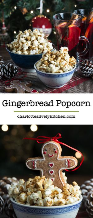 Homemade sweet cinema-style popcorn with all the flavours of gingerbread. The perfect accompaniment to your Christmas films. Gluten free.