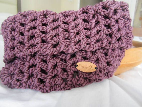 Infinity Scarf Cowl Crochet Wine by Gráinne at Cosy by GG