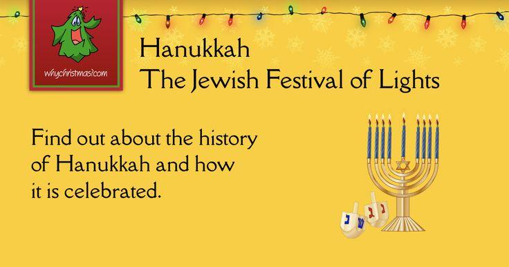 Hanukkah, the Jewish Festival of Lights. Its history and how it is celebrated.