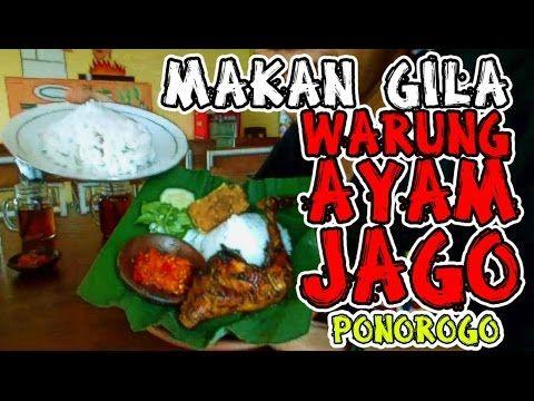 Makan Gila Ayam Jago Ponorogo #kulinerponorogo - YouTube