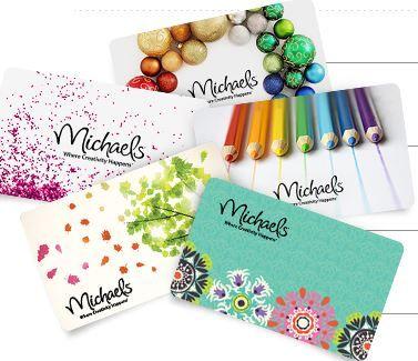 Carte Cadeau MICHAELS