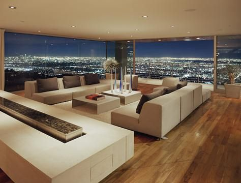 Nice Living Room. For more details visit http://isitcheapertobuildorbuyahouse.blogspot.comLiving Rooms, Luxury House, Livingroom, The View, Interiors Design, Modern Living Room, Dreams Living Room, Cities Lights, Cities View