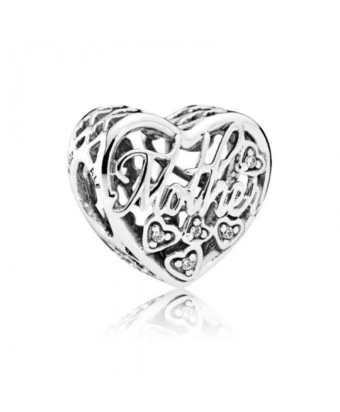 Lily Jewelry Latin Love Heart Transparent Cerise Enamel 925 Sterling Silver Bead Fits Pandora Charm Bracelet 3SPRC