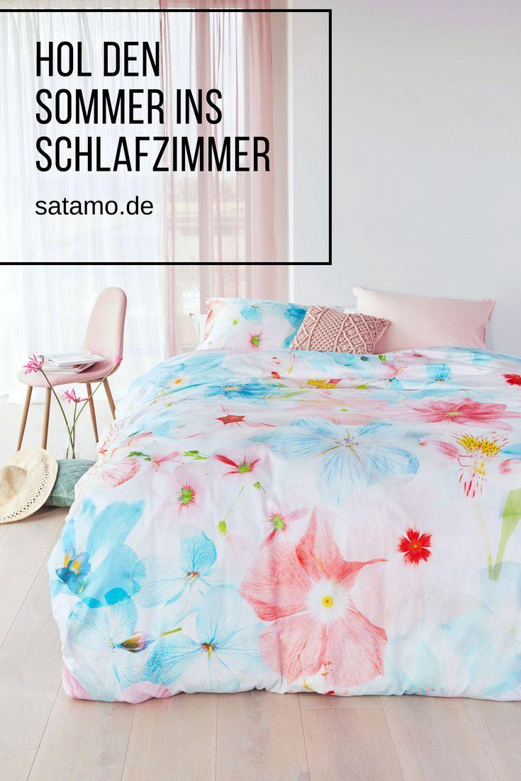 Bettwäsche Mit Blumenmuster Im Angesagten Design Mit