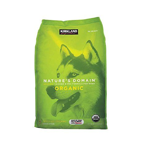 Kirkland Signature Nature's Domain USDA Organic Chicken and Pea Formula Dry Dog Food in 30 Pounds Bag * Details can be found by clicking on the image. (This is an affiliate link and I receive a commission for the sales)