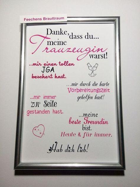 """Accessoires - Bild """"Danke, dass du...meine Trauzeugin warst..."""" - ein Designerstück von Feechens-Brauttraum bei DaWanda"""