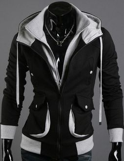 Men's Two Tone Hoodie with Front Pockets
