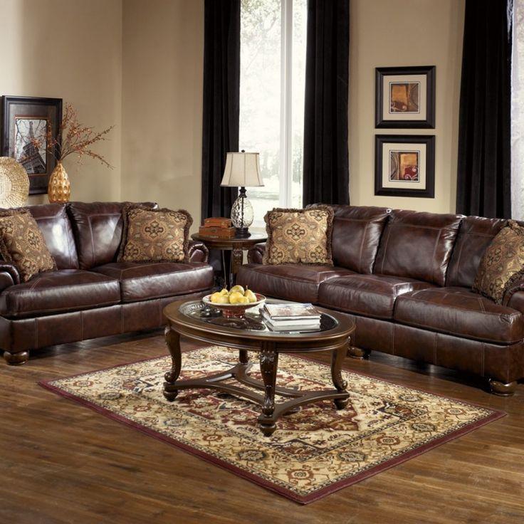 Dark Oak Living Room Furniture Sets