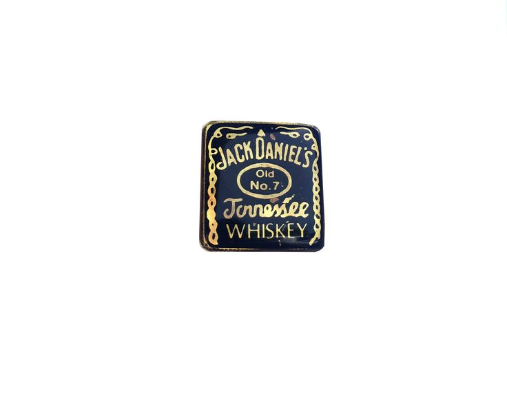$10 for sale @ Etsy shop https://www.etsy.com/listing/529494897/jack-daniels-pin-metal-enamel-vintage