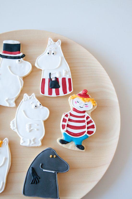 Moomin cookies - I HAVE to try and make some! SOOOOOOOOOOOOOOOOOOOOOO cute!!!!!!!!! :) This is a MUST!