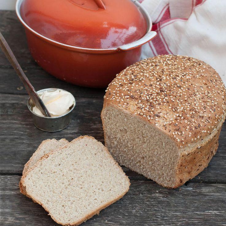 Ett gott, vitt bröd som passar alldeles utmärkt att rosta.