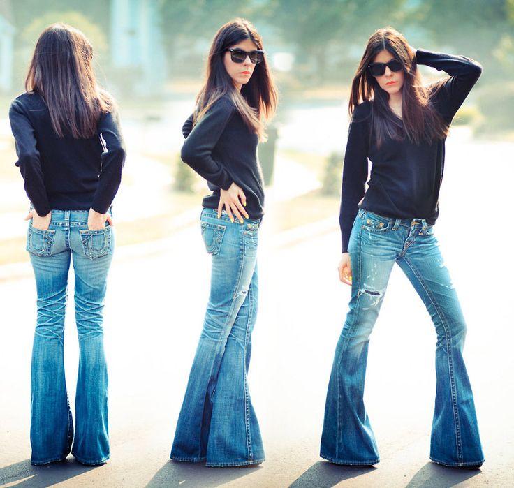 super flare jeans (calça boca de sino)