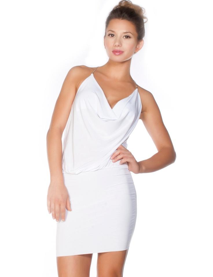 Coral Mini Dress w/ Silver Trim Back Detail < Sexy Dresses