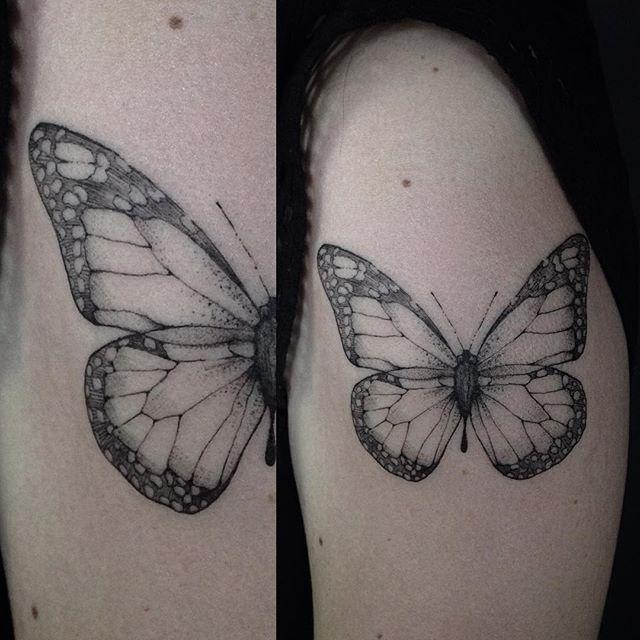 • Butterfly • #tattoo #tatuaje #tatuagem #tattooink #ink #inked #ivysaruzi…