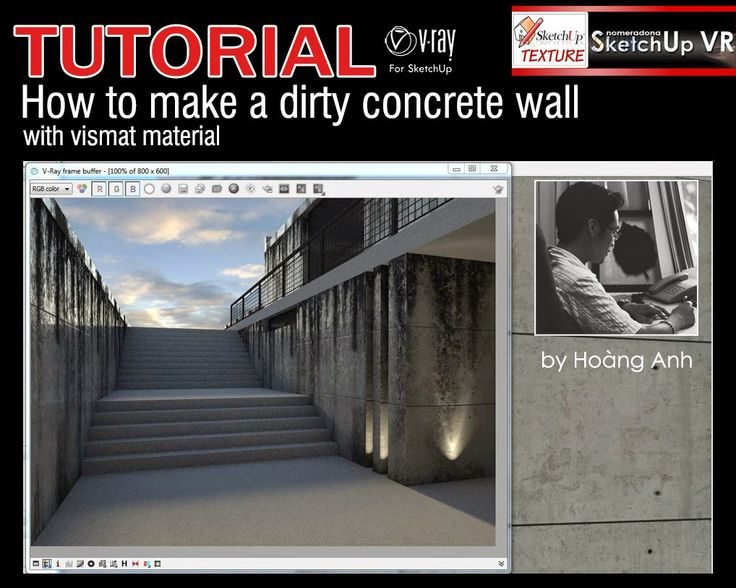 Tutorial-Vray-for-sketchup---how-to-make-a-dirty-concrete-wall-cover