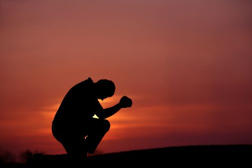 praying silhouette | 108198622-silhouette-of-man-praying-at-dusk-gettyimages